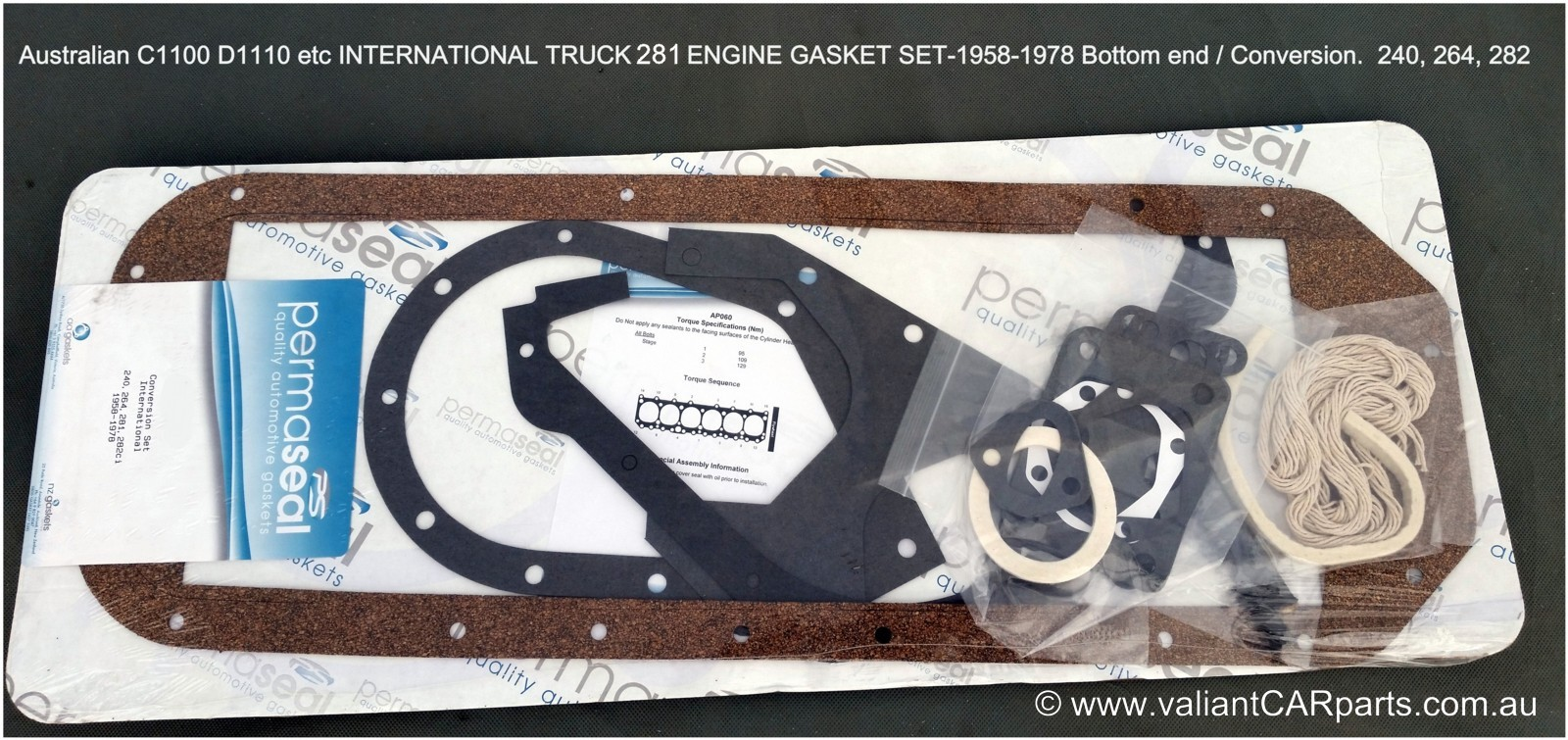 International Truck Parts Engine Diagrams New Quality Manifold Gasket To Suit Australian Ih 1958 1978 Six Cylinder Petrol Engines 3900 Each Including 6 281 282 Cid Cyl